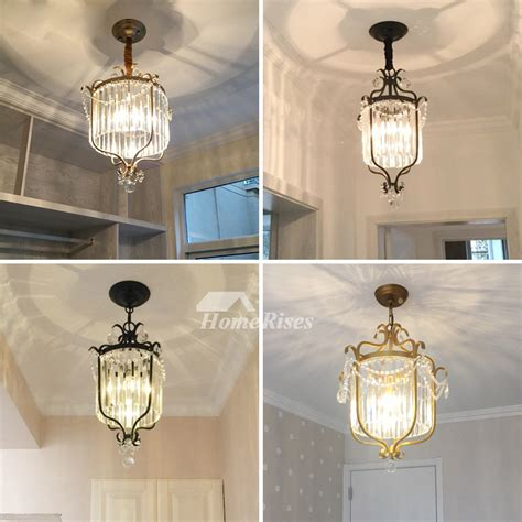 mini crystal chandelier blackgold wrought iron  light