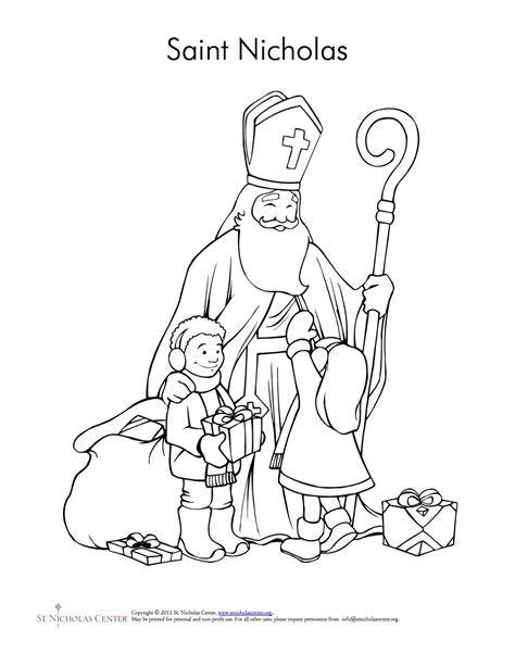 St Nicholas Christmas Coloring Coloring Pages