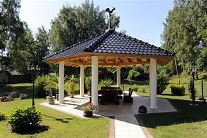 holz pavillon garten fi23 hitoiro With französischer balkon mit pavillon holz garten