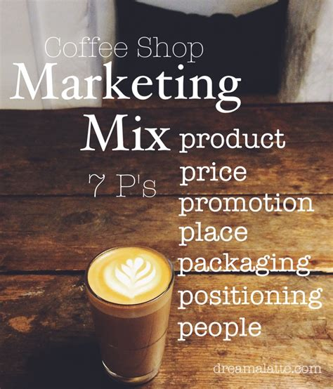 coffee shop business plan marketing mix dreamalatte