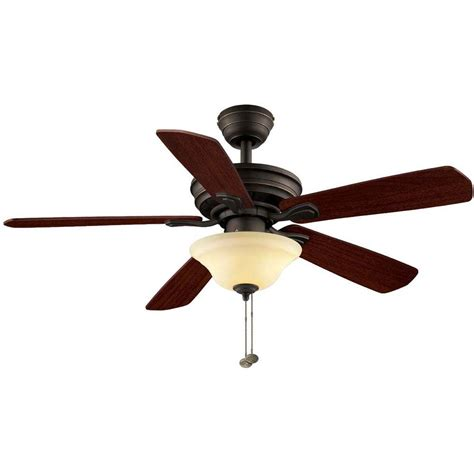 Home Depot Ceiling Fans Hton Bay by Hton Bay Ceiling Fans Wellston 44 In Rubbed Bronze