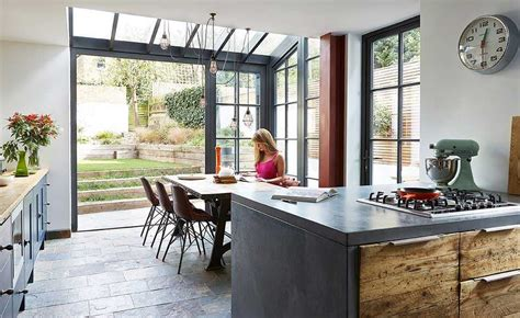 real home  glazed extension   edwardian terraced