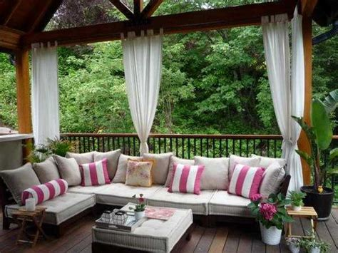 gorgeous patio furniture on a budget home decor ideas outdoor curtains for porch and patio designs 22 summer