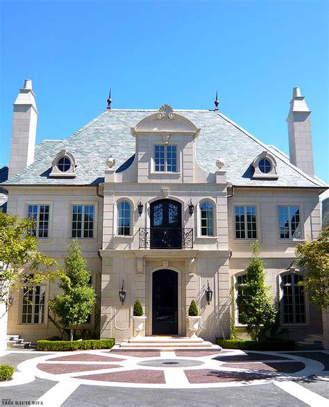 Chateau Style Homes by Classic Chateau Style Exterior Architecture