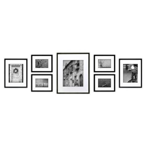 picture frame gallery set gallery 7 multi size wall frame set black 4184
