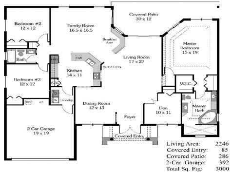 bedroom house plans open floor plan  bedroom open house