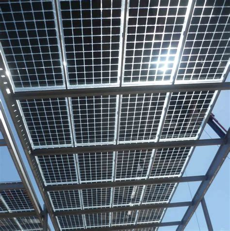 Glas Glas Module Barcelona Installiert Photovoltaik Pergolas Mit Vidursolar Pv Glas Glas Modulen Global Glass