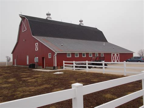 The Big Red Barn, New Windsor, Illinois. Photo By Marske