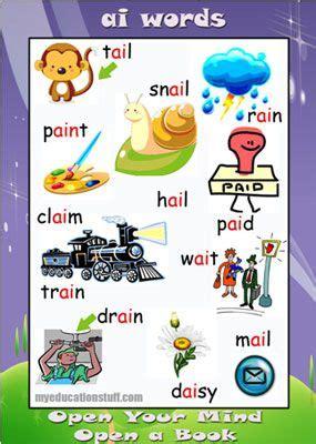 ai words ai phonics poster free printable words