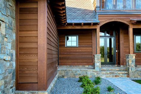Brown Rustic Siding Fabulous Home Design