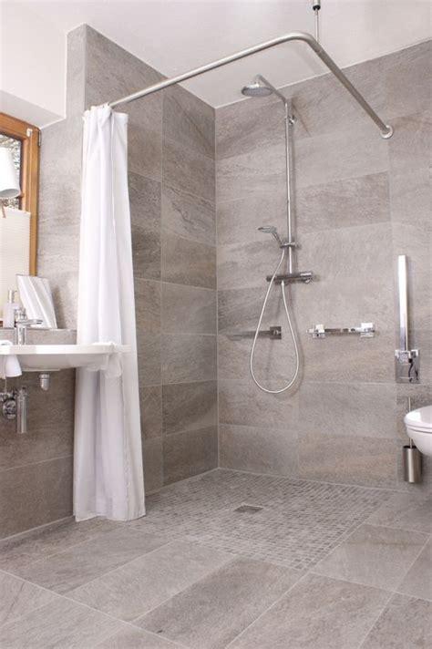 Badezimmer Ebenerdige Dusche  Wohnen  Pinterest Grau