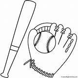 Baseball Bat Coloring Glove Pages Sports Ball Bigactivities Father Cartoon Colouring Printable Template Fathers Gloves Football Sport Printables Templates 2009 sketch template