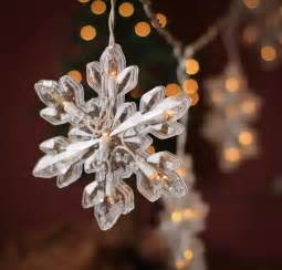 large snowflake string lights lighting christmas and winter holiday crafts