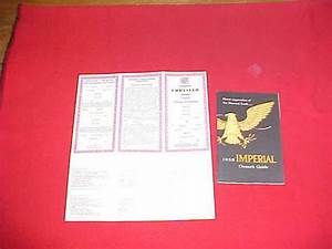 1958 Chrysler Imperial Nos Owners Manual Service Guide 58