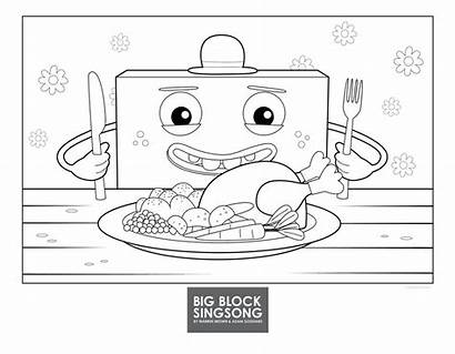 Block Pages Singsong Colouring