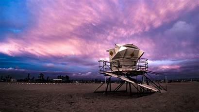 Beach Huntington Lifeguard Tower Wallpapers Background Desktop