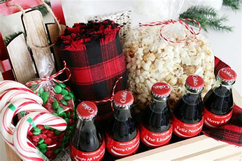 Coca-cola Christmas Gift Basket Idea + Free Printable Tags Blinds For Kitchen Window Long Narrow Ideas Best Color Small Neutral Colors Most Expensive Appliances Kids Play Accessories Luxurious Backsplash Kitchens Inexpensive