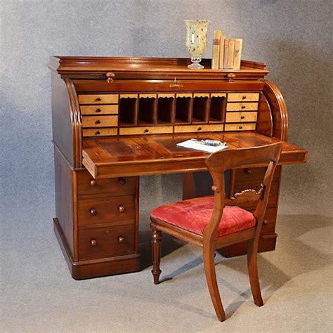 bureau desk antique writing bureau large
