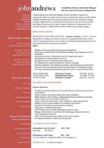 high level management resume business operations manager resume exles cv templates