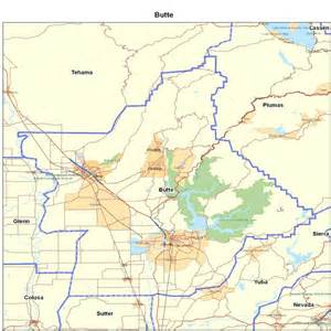 Butte County CA Map