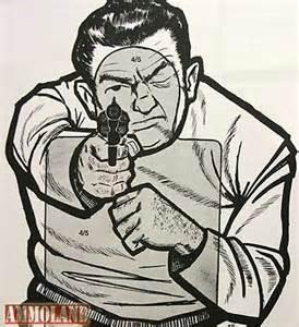 Gun Shooting Range Targets Paper