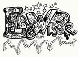 Coloring Pages Graffiti Teenagers Words Letters Swag Drawings Names Popular Coloringhome Letter Template sketch template