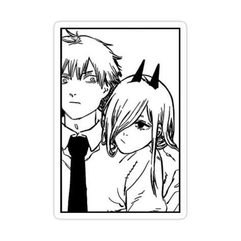 denji and power sticker by fragileshedinja in 2021 anime