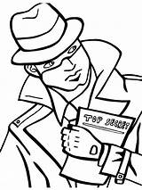 Detective Coloring Pages Printable Mycoloring sketch template