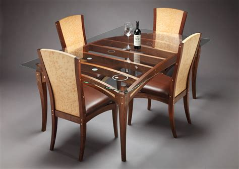 wooden dining table designs  glass top google search