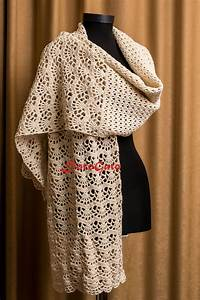 Crochet Shawl Pattern Stole Pattern Woman Shawl By Patternsdg