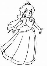 Peach Princess Coloring Mario Super Bros Dancing Colorare Ausmalbilder Prinzessin Principessa Princesses Disegni Printable Pfirsich A4 Game Coloringonly Disney Cinderella sketch template