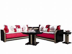 oriental concept salon marocain avec tissu rouge mansour With tapis oriental avec salon canape fauteuil tissu