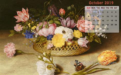 october  calendar wallpaper wallpapers