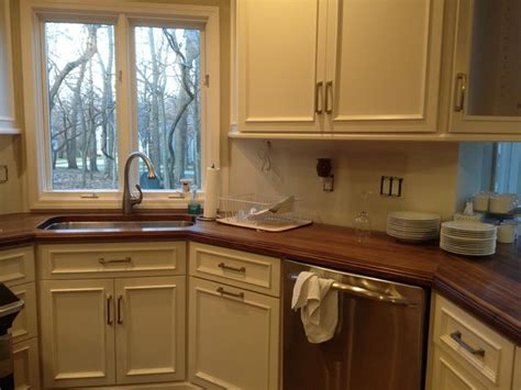 Black Walnut Countertops - black walnut wood countertops traditional kitchen by
