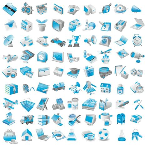 Blue Resume Icons by Free Vector Blue Icons Free Vector 4vector
