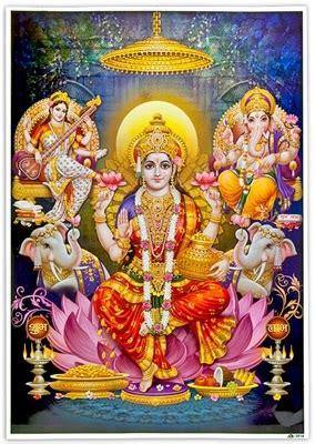 laxmi ganesh saraswati art poster wholesale