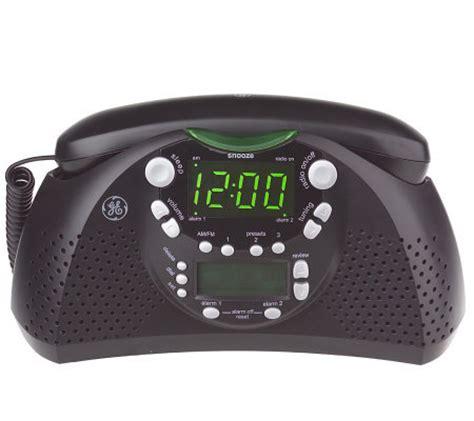 Bedroom Radio Alarm Clocks by Ge Dual Alarm Am Fm Clock Radio And Bedroom Phone W Caller