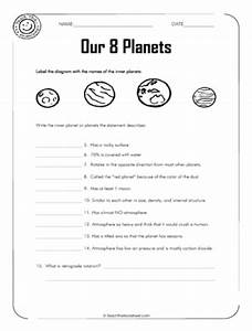 Sun and Planets Worksheet - Pics about space