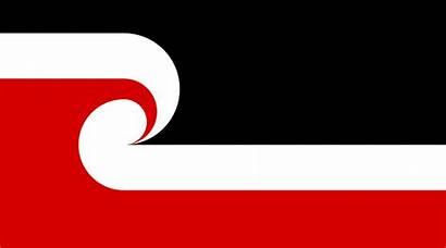 Maori Wikipedia Flag Tino Movement Sovereignty Svg