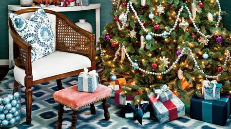 decorating  vintage christmas ornaments southern living