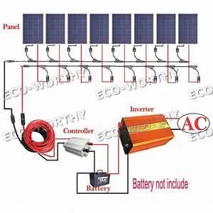 800w Solar System Kit 8 100w Solar Panel W 3000w Off Grid