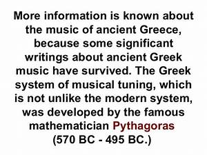 periods of western musical history With documents of ancient greek music