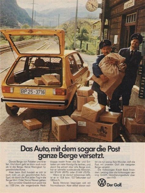Werbung fu00fcr Post Golf 1 #VolkswagonClassiccars | Golf tips, Volkswagen 181, Volkswagen golf mk1