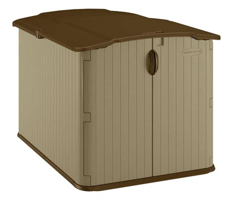 Rubbermaid Slide Lid Shed Menards by Suncast Bms4900d Glidetop Slide Lid Shed By Suncast
