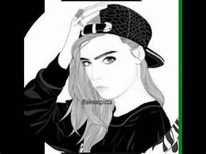 Fille Noir Et Blanc : dessins de fille en noir et blanc youtube ~ Melissatoandfro.com Idées de Décoration