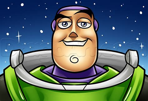 How To Draw Buzz Easy, Step By Step, Disney Characters