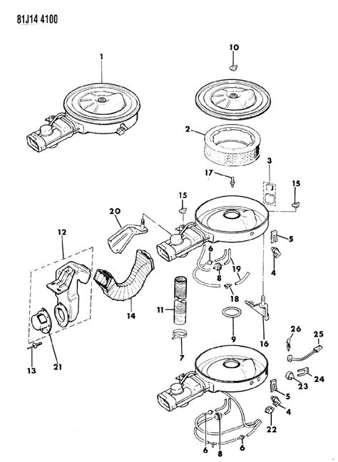 Jeep Comanche Engine Diagram by J3236695 Genuine Jeep Filter Crankcase Vent