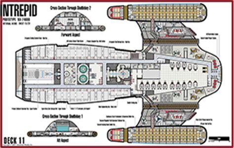 Starship Voyager Deck Plans by Trek Blueprints U S S Intrepid Nx 74600