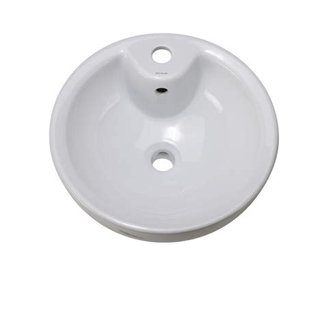 Decolav Sinks Home Depot by Decolav Classically Redefined Vessel Sink In White 1451