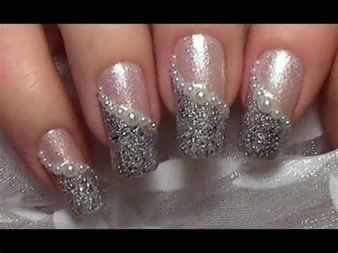 nageldesign selber machen kurze nägel einfach schick elegantes perlen nageldesign selber machen hochzeitsn 228 gel wedding nails